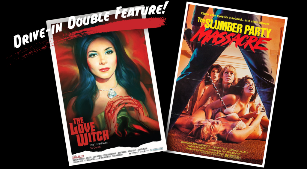 Posters for The Love Witch and The Slumber Party Massacre